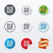 Qr code sign icons — Stock Vector