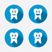 Sad and crying face icons. — Stock Vector