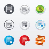 Text file sign icons — Stock Vector