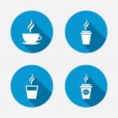 Hot drinks glasses symbols. — Stock Vector