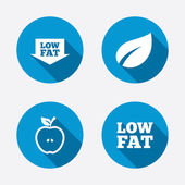 Low fat icons. — Stock Vector