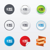 WC men toilet sign icons — Vector de stock
