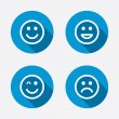 Happy, sad and wink faces. — Stock Vector #70578543