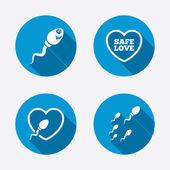 Fertilization or insemination signs — Stock Vector