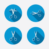 Hairdresser or barbershop symbols — Stock Vector
