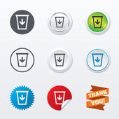 Send to the trash icons — Stock Vector