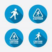 Caution wet floor icons. — Stock Vector
