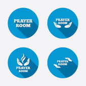 Prayer room icons. — Stock Vector