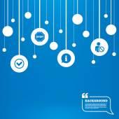 Information icons. Stop prohibition symbol. — Stockvector