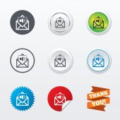 Voice mail icons — Vector de stock