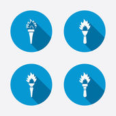 Torch flame icons. — Stock Vector