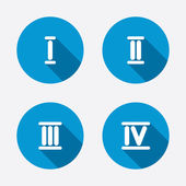 Roman numeral icons. — Stock Vector