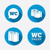 Toilet paper icons. — Stock Vector