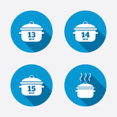 Cooking pan icons — Stock Vector