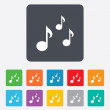 Music notes sign icons — Stock Vector #70810375