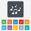 Music notes sign icons — Stock Vector #70811279