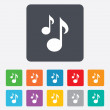 Music notes sign icons — Stock Vector #70813975