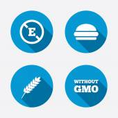 Food additive icons — Stock Vector