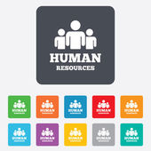 Human resources sign icons — Stock Vector