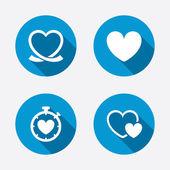 Heart ribbon icons — Stock Vector
