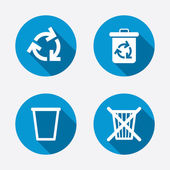 Recycle bin icons. — Stock Vector