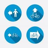 Pedestrian road icons — Stock Vector