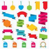 Sale price tag icons. — Stock Vector