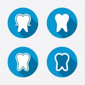 Tooth enamel protection icons. — Stock Vector