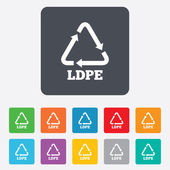 Ld-pe sign icons — Stock Vector