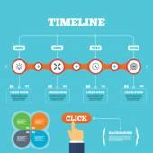 Lampa pomysł i zegar czasu. — Wektor stockowy
