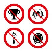 First place award cup icons. — Stock Vector