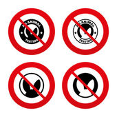 No animals testing icons. — Stock Vector