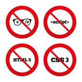Programmer coder glasses. — Stock Vector