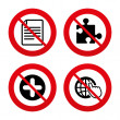 Plus circle and puzzle signs. — Stock Vector #71522271