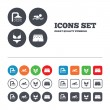 Swimming pool icons. — Stock Vector #71529011