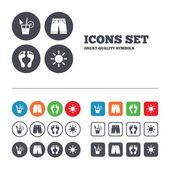 Beach holidays icons. — Stock Vector