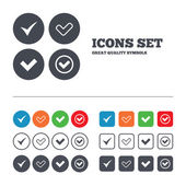 Checkbox confirm icons. — Stock Vector