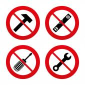 No, Ban or Stop signs. — Stock Vector
