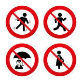 No, Ban or Stop signs. Business — Stock Vector