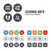 Step by step icons. — Stock Vector