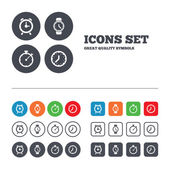 Mechanical clock time icons. — Stock Vector