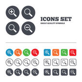 Magnifier glass icons. — Stock Vector