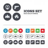 Security agency icons. — Stock Vector