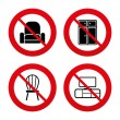 Furniture icons signs — Stock Vector #72137193