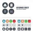 Furniture icons signs — Stock Vector #72137203