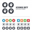 Head with brain icons — Stock Vector #72137515