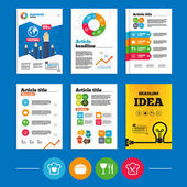 Brochure or flyers design. — Stock Vector