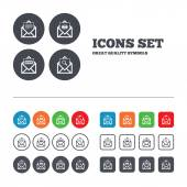 Mail envelope icons. — Stock Vector
