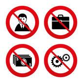 Нет, запрет или знаки остановки. — Cтоковый вектор