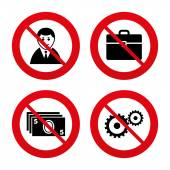 No, prohibición o señales de Stop. — Vector de stock
